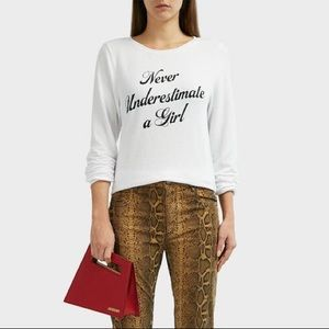 Wildfox Never Underestimate a Girl Sweater